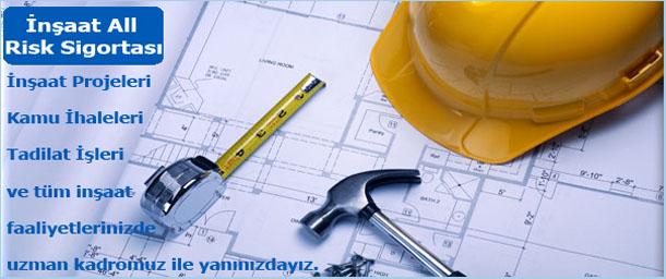 inşaat all risk sigortası